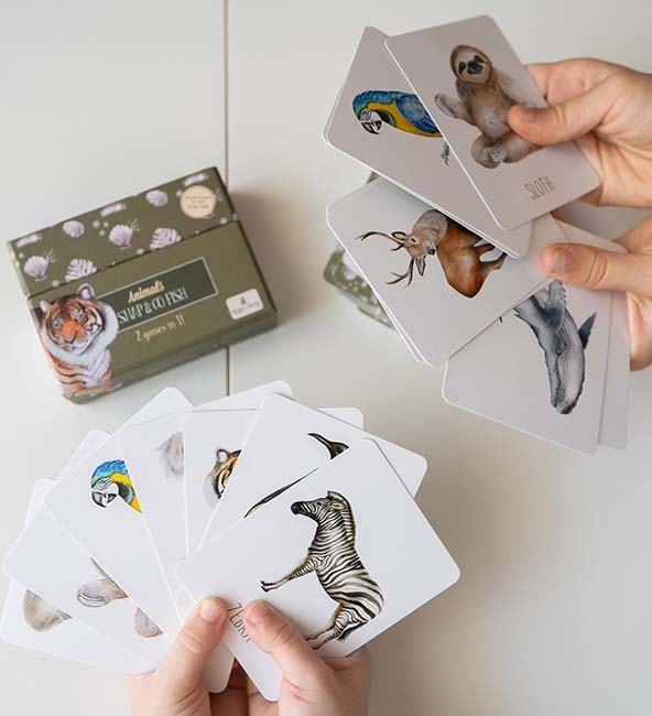 Modern Monty Animals Snap & Go Fish