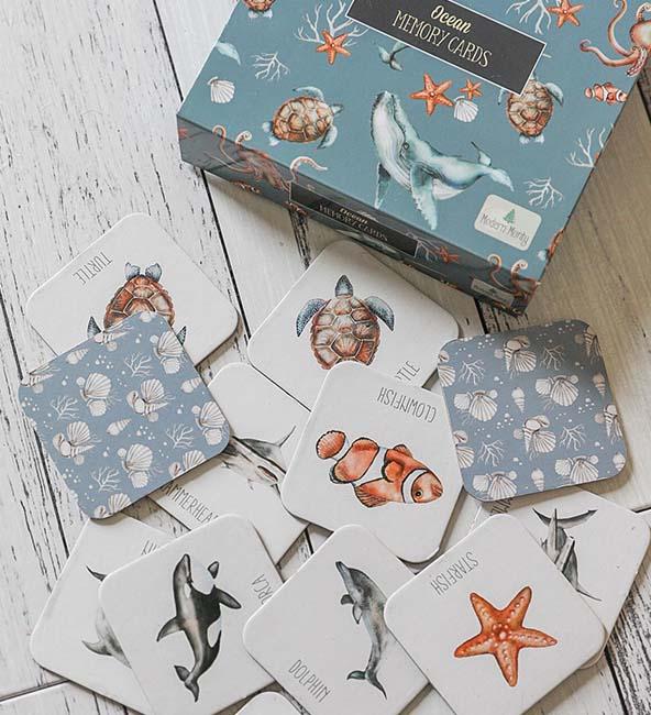 Modern Monty Memory Card Game - Ocean