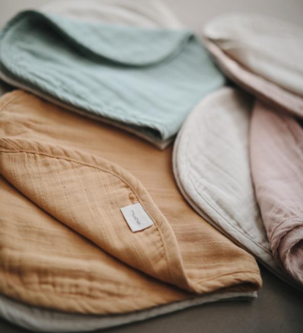 Mushie Organic Cotton Burp Cloth