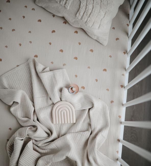 Mushie Medium Crib Sheet