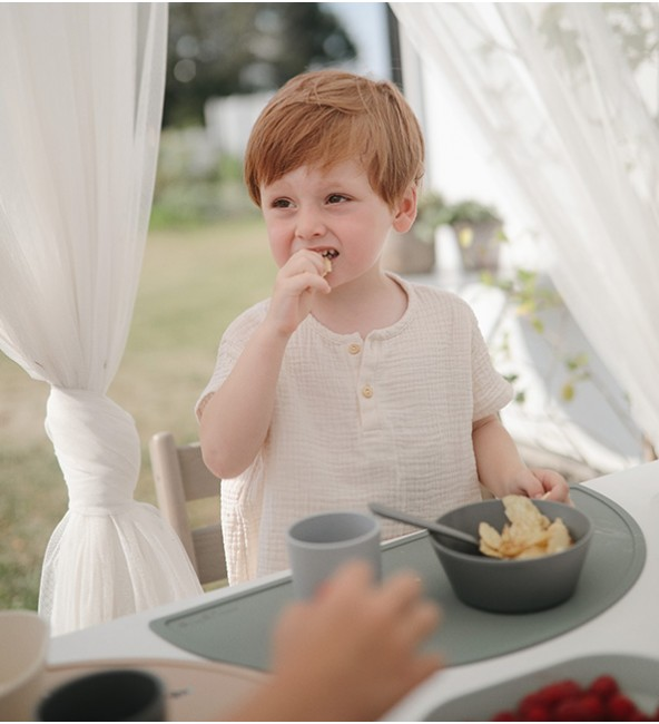 Mushie Round Dinnerware Bowl (Set of 2)