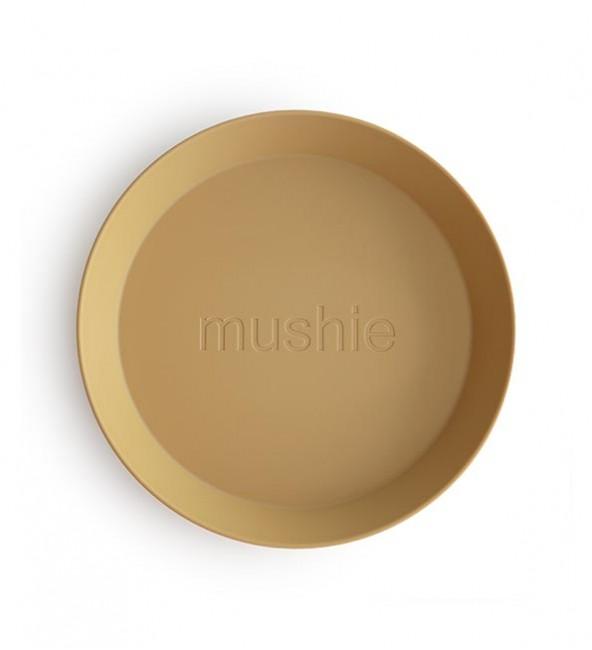 Mushie Round Dinnerware Plates (Set of 2)