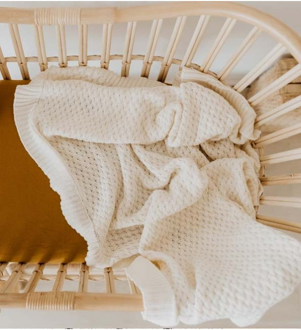 Diamond Knit Baby Blanket