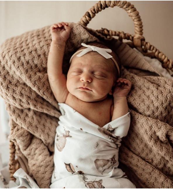 Baby Jersey Wrap & Beanie Set