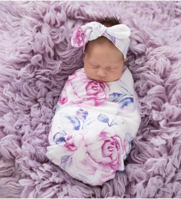 Swaddle & Topknot Set