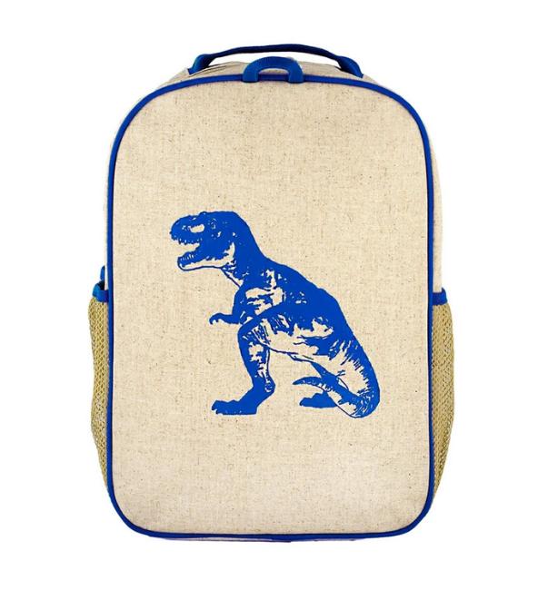 Blue Dino Toddler Backpack