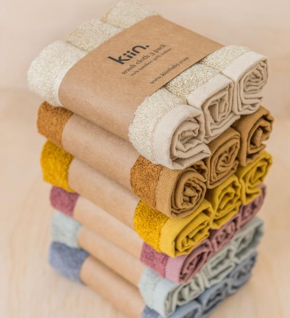 Kiin Wash Cloth 3 Pack