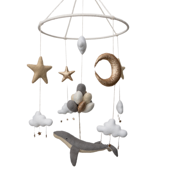 Everything Whale Be Alright Crib Mobile
