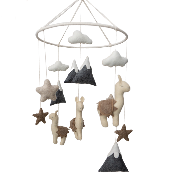 Llama Crib Mobile