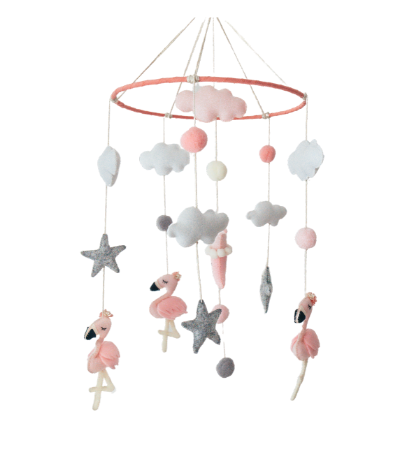 Pink Flamingo Crib Mobile