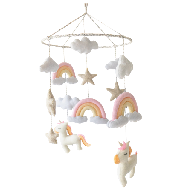 Unicorn Rainbow Pastel Crib Mobile