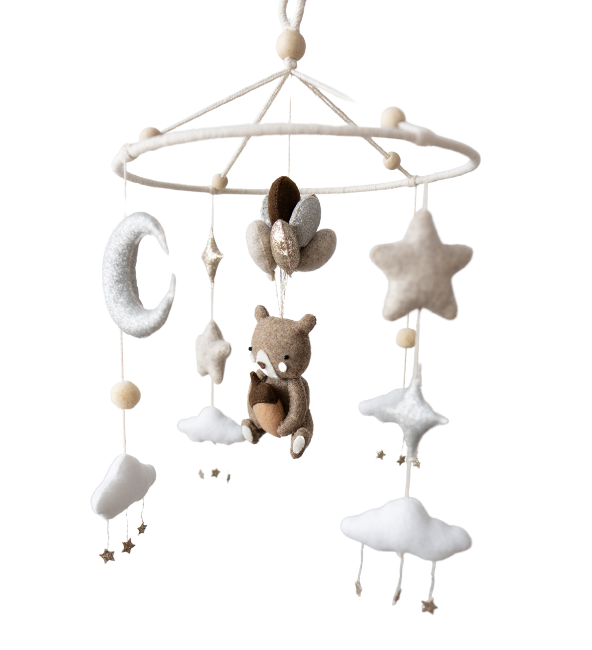 Teddy's Dream Crib Mobile