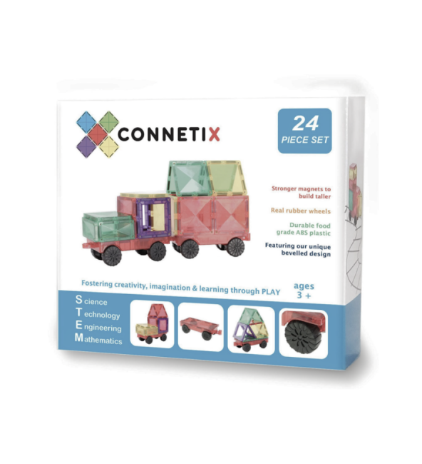 Connetix Tiles | 24 Piece Car Pack