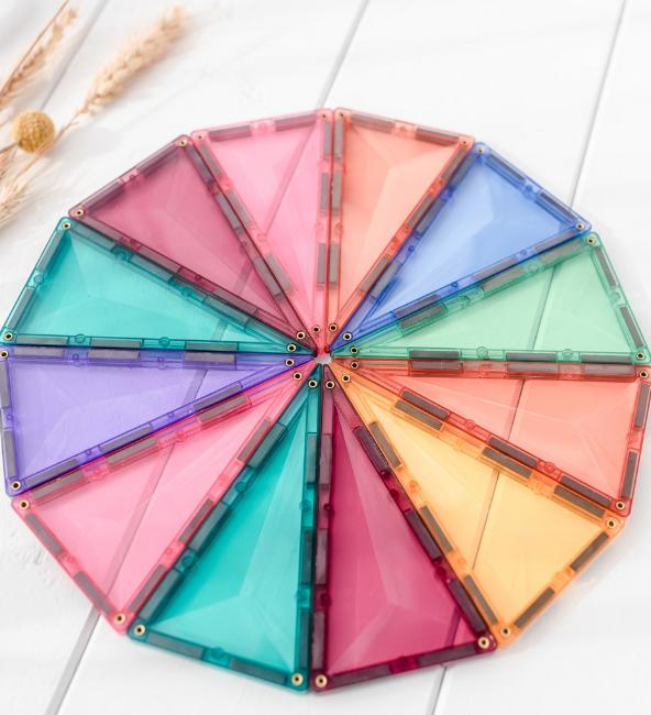 Connetix Tiles | 40 Piece Pastel Geometry Set