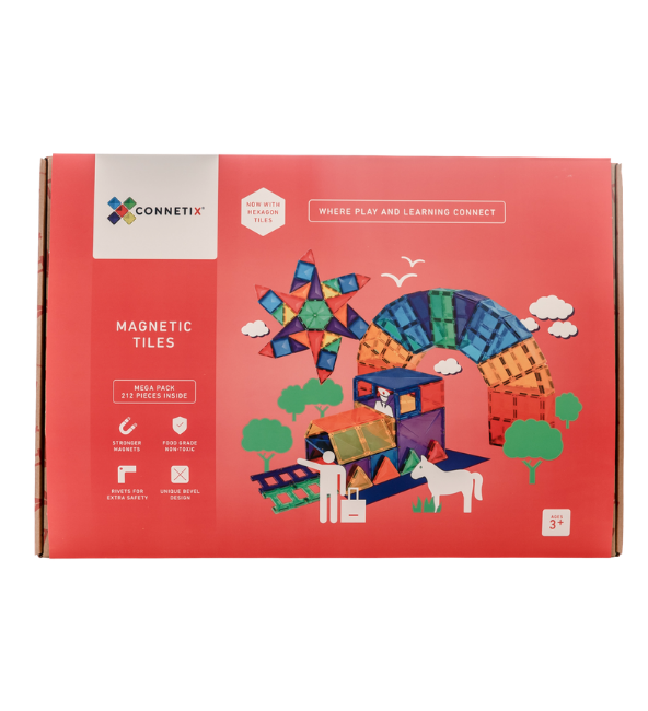Connetix Tiles | 212 Piece Mega Pack