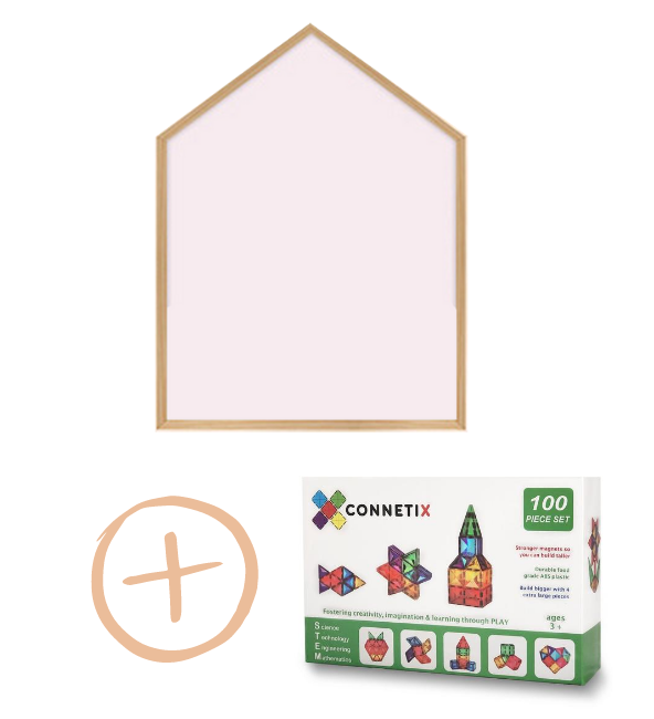 (Bundle Set) Momsboard - Reve House + Connetix Tiles - 100 Piece Set