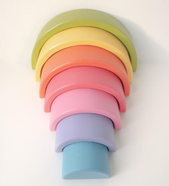 Wooden Rainbow - Pastel