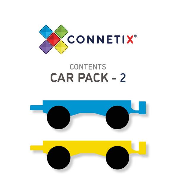 Connetix Tiles | 2 Piece Car Pack Set
