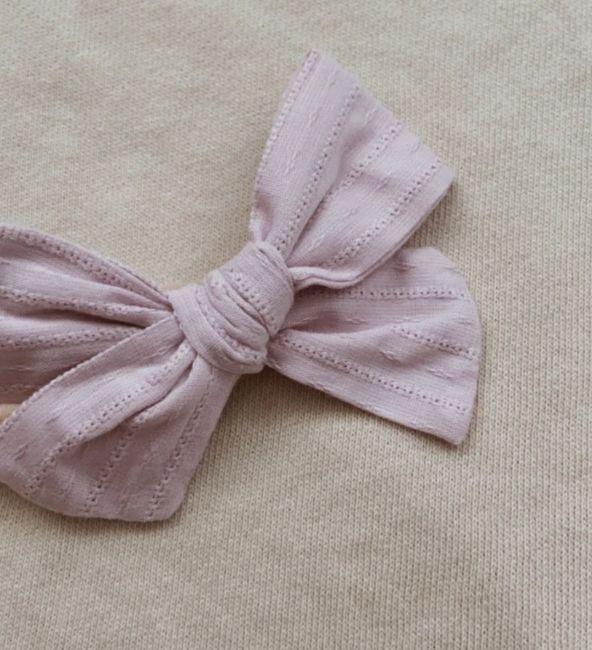 Lavender Embroidery Bow Headband