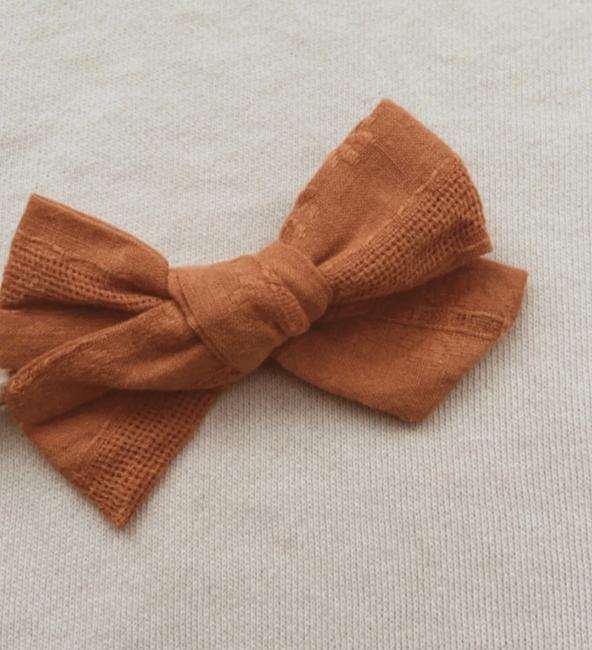 Mustard Embroidery Bow Headband