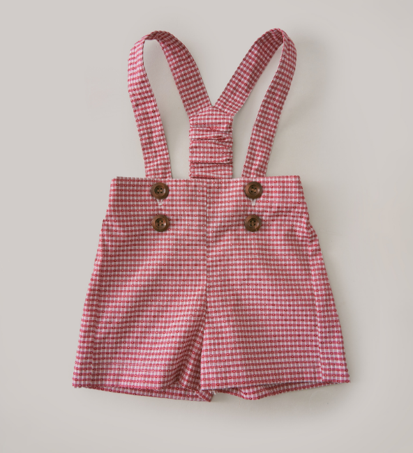 Red Gingham Overall