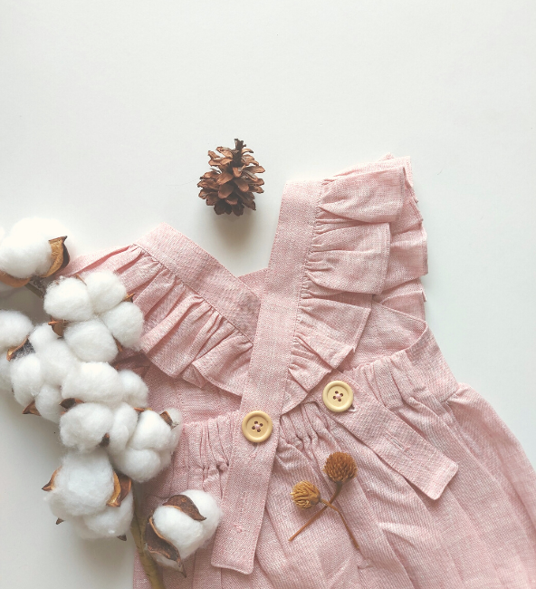 Indiana Romper Dusty Pink