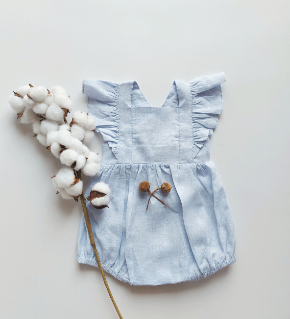 Indiana Romper Baby Blue