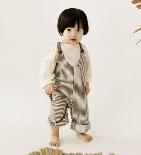 Peppa Jumpsuit Navy Stripe
